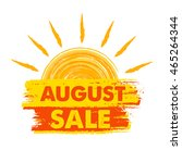 august sale summer banner  ... | Shutterstock .eps vector #465264344