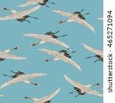 japanese style crane   Shutterstock . vector #465271094
