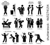 negative personalities... | Shutterstock . vector #465274154