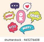 set of trendy comic speech... | Shutterstock .eps vector #465276608