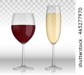 transparent champagne wineglass ... | Shutterstock .eps vector #465277970