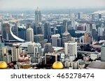 bangkok cityscape in the... | Shutterstock . vector #465278474