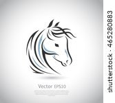 Stock vector vector sign horse logo 465280883