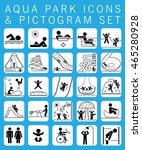 collection of pictograms and... | Shutterstock .eps vector #465280928