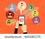 message icon on smartphone... | Shutterstock .eps vector #465282170