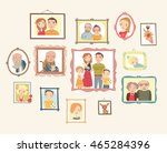 gallery of family portraits.... | Shutterstock .eps vector #465284396
