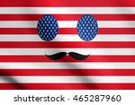 image in colors of the american ... | Shutterstock . vector #465287960