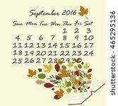 september calendar | Shutterstock .eps vector #465295136
