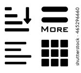 menu icons set. vector color...