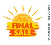 final sale banner   text in... | Shutterstock .eps vector #465297098
