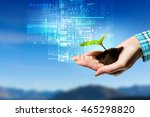 nature and technology... | Shutterstock . vector #465298820