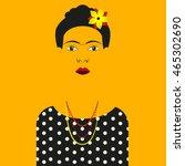 frida kahlo vector illustration ...   Shutterstock .eps vector #465302690