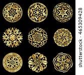 Golden Bohemian Style Mandalas...