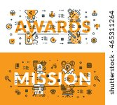 awards and mission heading ... | Shutterstock .eps vector #465311264
