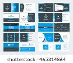 set of modern creative business ... | Shutterstock .eps vector #465314864