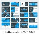 set of modern creative business ... | Shutterstock .eps vector #465314870