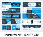 set of modern creative business ... | Shutterstock .eps vector #465314930