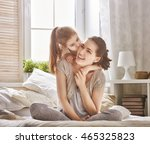 happy loving family. mother and ... | Shutterstock . vector #465325823