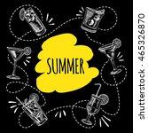 summer cocktails on white... | Shutterstock .eps vector #465326870