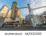 raw material silo in feed mills | Shutterstock . vector #465332330