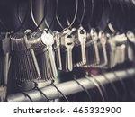 locksmith key shop business... | Shutterstock . vector #465332900