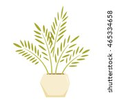 cycas in pot. interior home and ...   Shutterstock .eps vector #465334658