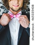 man the groom in a wedding... | Shutterstock . vector #465335408