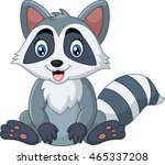cute raccoon sitting | Shutterstock .eps vector #465337208