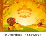 thanksgiving day vector... | Shutterstock .eps vector #465342914