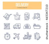 doodle vector line icons set of ... | Shutterstock .eps vector #465347210