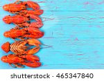 Colorful Red Lobster Border On...