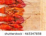 Border Of Four Red Lobsters...