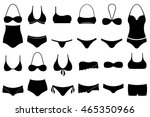 set of different swimsuits... | Shutterstock .eps vector #465350966