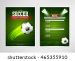 soccer tournament modern sports ... | Shutterstock .eps vector #465355910