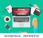 person working on laptop... | Shutterstock .eps vector #465356510