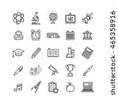 school outline icon set... | Shutterstock .eps vector #465358916