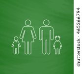 family outline vector icon....