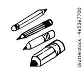 set of pencil. hand drawing.... | Shutterstock .eps vector #465367700