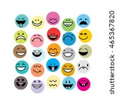 emoticon set colorful | Shutterstock .eps vector #465367820