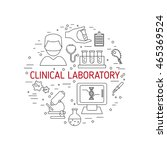 clinical laboratory concept... | Shutterstock .eps vector #465369524
