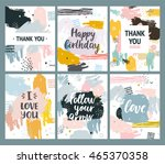 vector abstract flayers with... | Shutterstock .eps vector #465370358