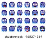 the set of indigo cartoon funny ... | Shutterstock .eps vector #465374369