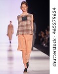 a model walks the runway on the ... | Shutterstock . vector #465379634