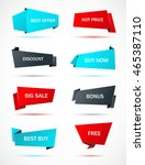 vector stickers  price tag ... | Shutterstock .eps vector #465387110