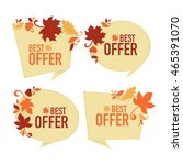 the best offer   vector... | Shutterstock .eps vector #465391070