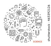 line web concept for science....   Shutterstock .eps vector #465392126