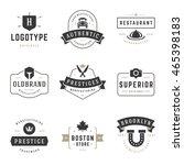 vintage logos design templates... | Shutterstock .eps vector #465398183