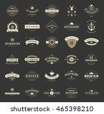 vintage logos design templates... | Shutterstock .eps vector #465398210