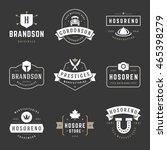 vintage logos design templates... | Shutterstock .eps vector #465398279