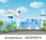 illustration of airport ... | Shutterstock . vector #465399074
